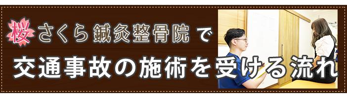 京橋の桜さくら鍼灸整骨院で交通事故のむち打ち施術を受ける流れ